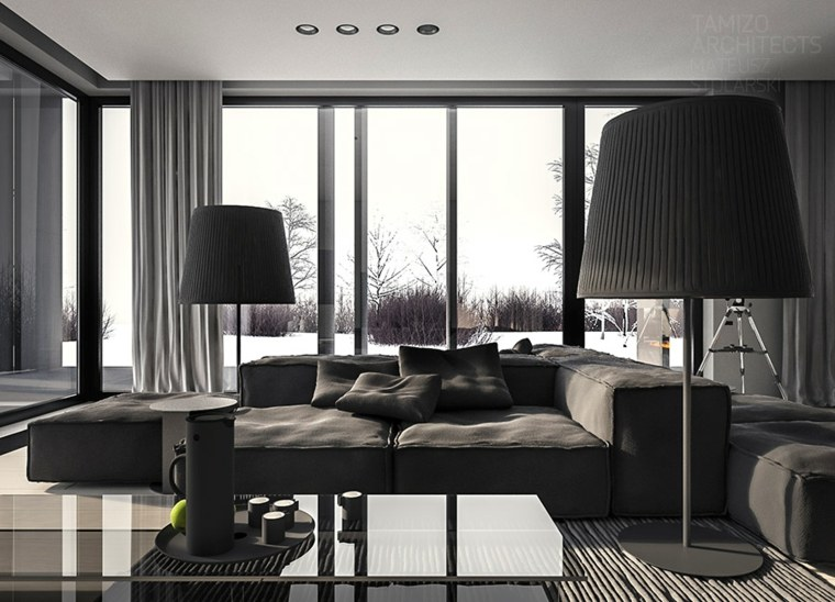decoracion de hogar-color-negro