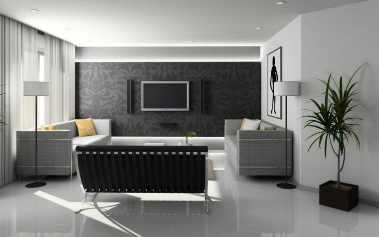 decoracion de hogar-negro-blanco
