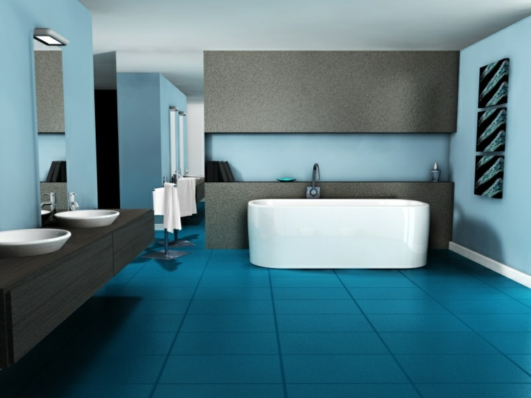 decoracion de salas-banos-acentos-turquesas