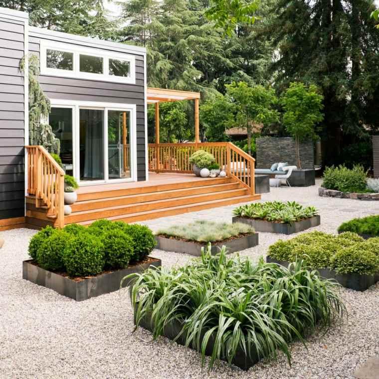 jardines modernos y sofisticados