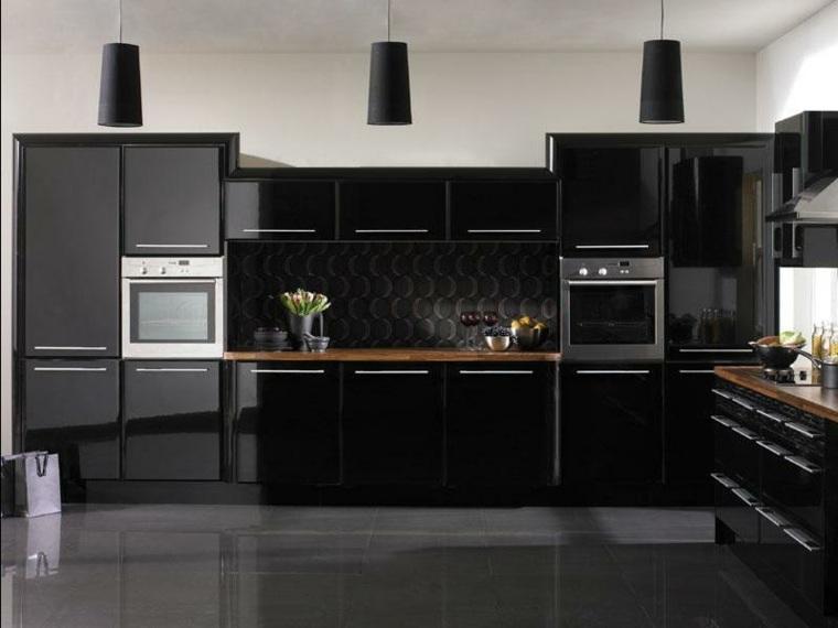 decoracion interiores-modernos-cocina-negra