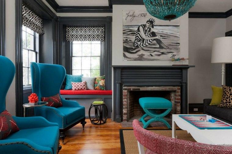 decoracion moderna-acentos-color-turquesa