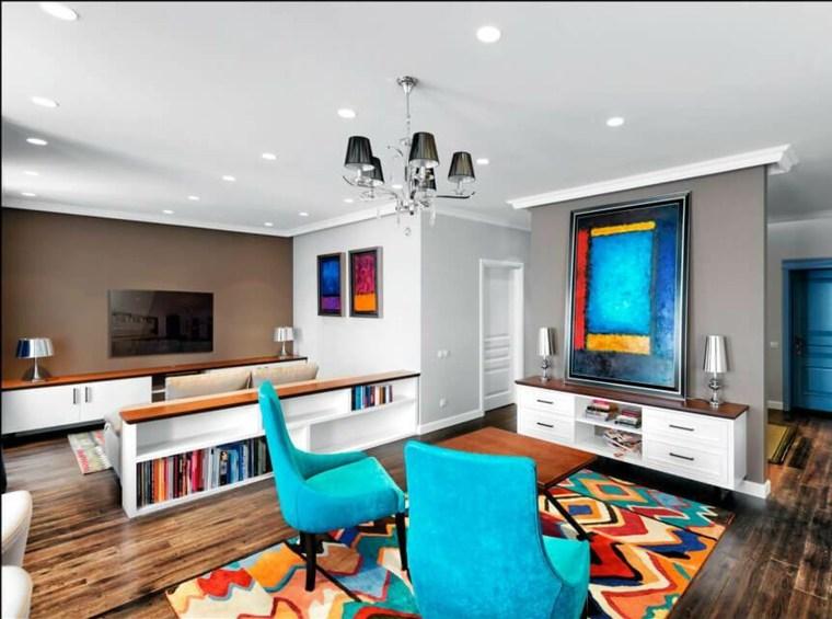 decoracion moderna-acnetos-color-turquesa