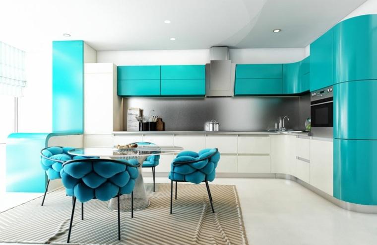 decoracion moderna-cocinas-acentos