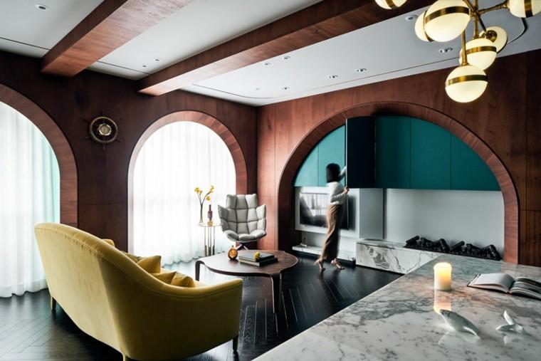 decoracion moderna-interior-color-turquesa