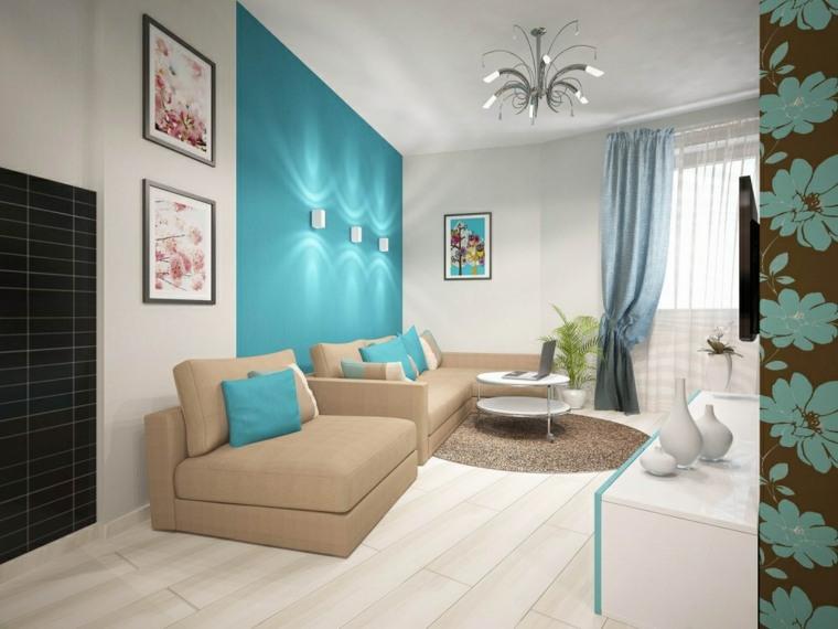 decoracion moderna-interiores-acentos-turquesas