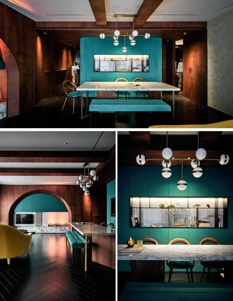 decoracion moderna-interiores-color-turquesa