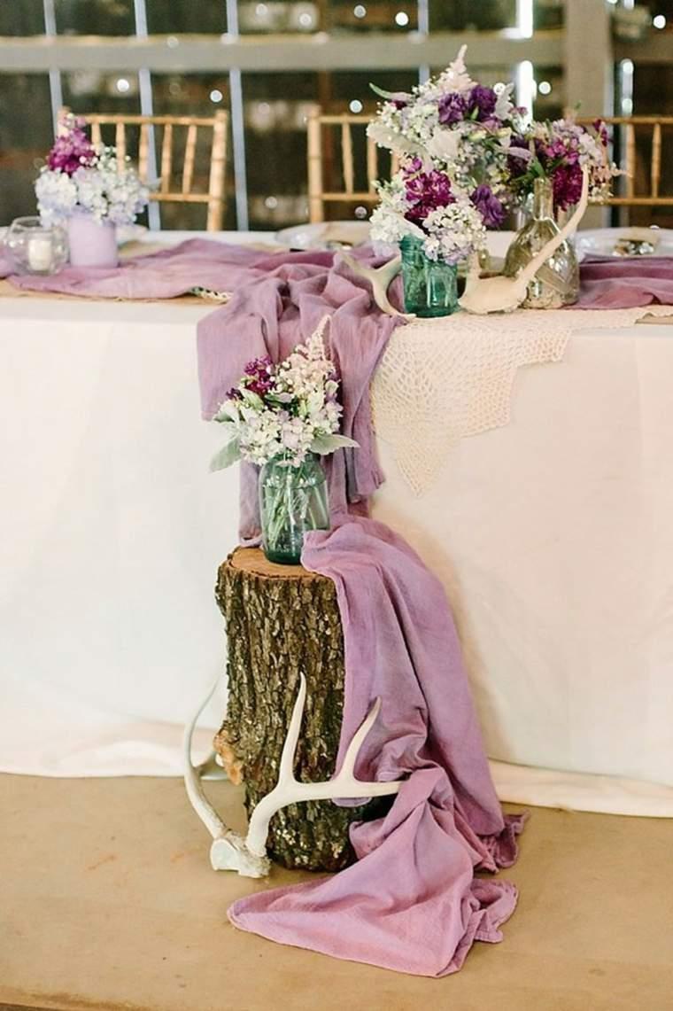 decoración de mesa estilo boho