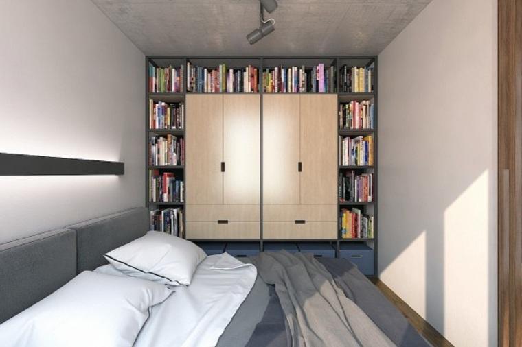 departamentos pequeños biblioteca-armario