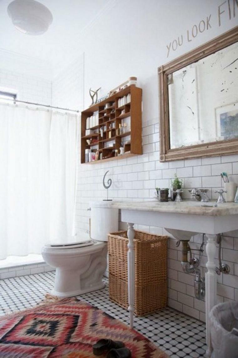 diseños de baños boho-chic