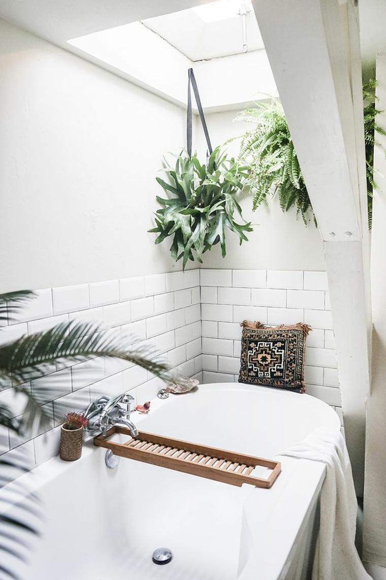 diseños de baños con-plantas
