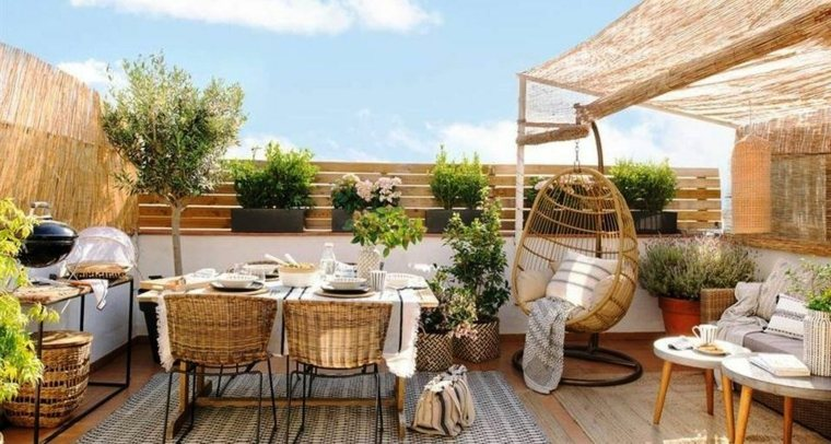 originales diseños de terrazas