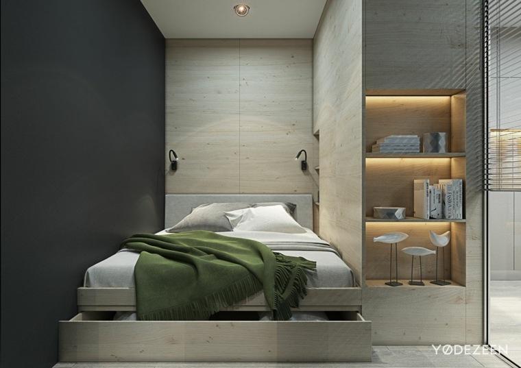 dormitorio-con-paredes-de-madera
