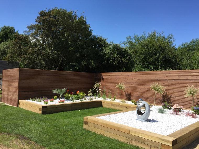 jardines con camas elevadas de madera