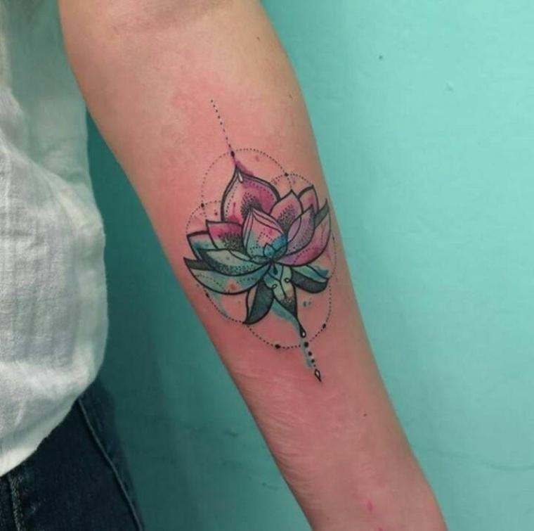 Tattoo de flores de loto