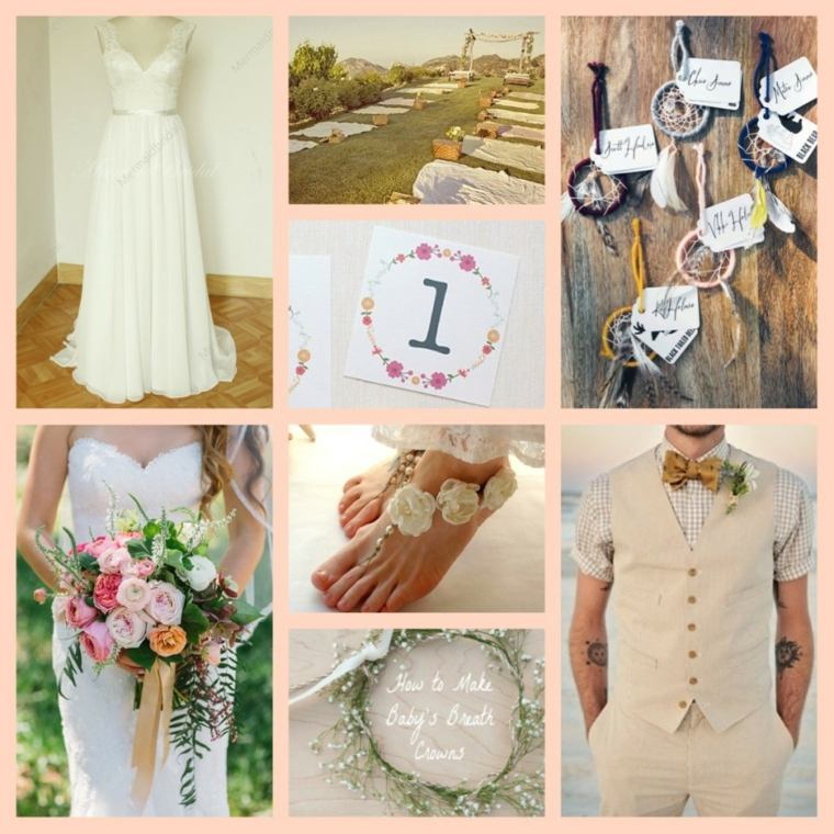 ideas para bodas de estilo boho chic