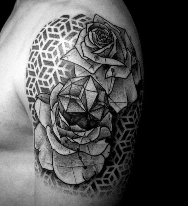 tatuaje de flores original
