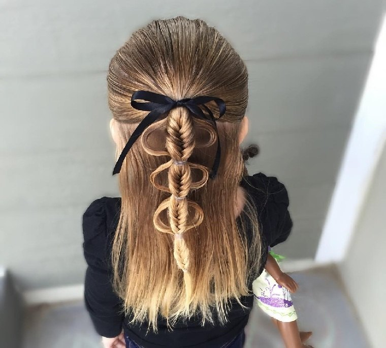 ideas-peinados-ninas-semirecogidos