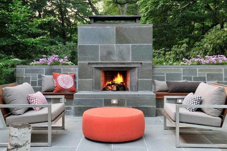 imagenes de chimeneas-jardines-contemporaneos