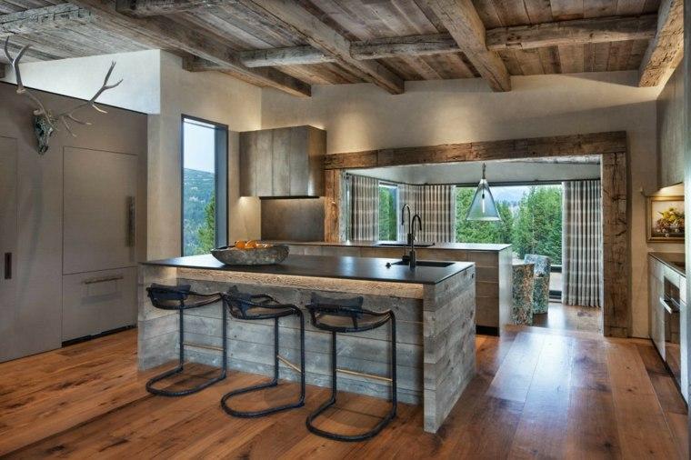 imágenes de cocinas modernas-bunker-millerroodell-architects