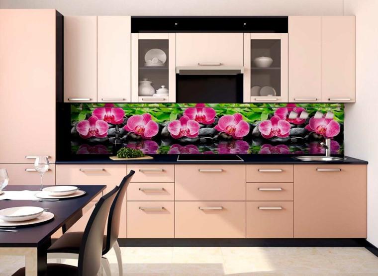 interiores de cocinas-salpicaderos-colores