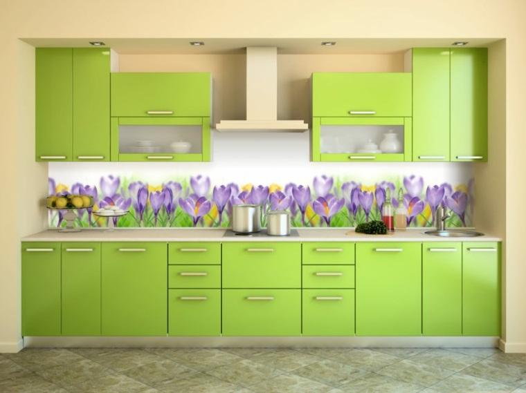 interiores de cocinas-salpicaderos-flores