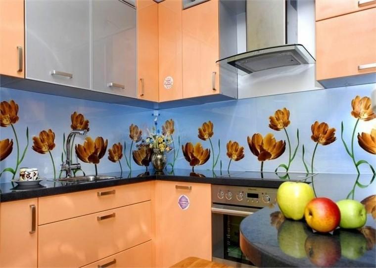 interiores de cocinas-salpicaderos-modernos-flores