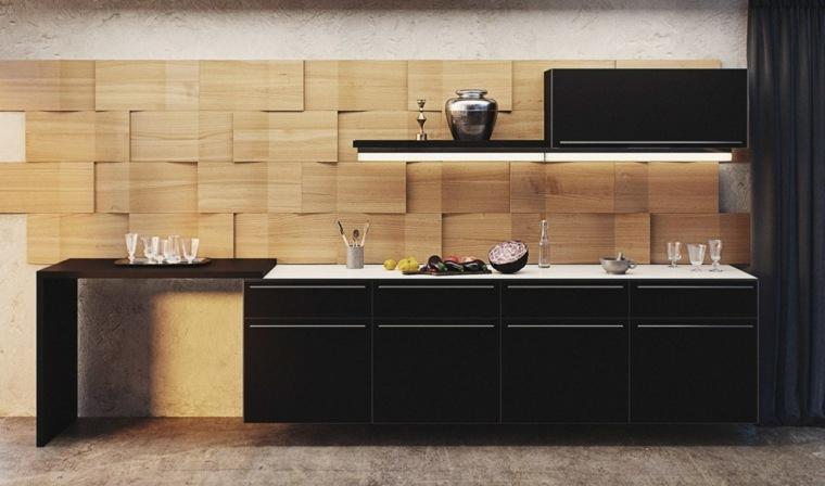 interiores de cocinas-salpicaderos-modernos-madera