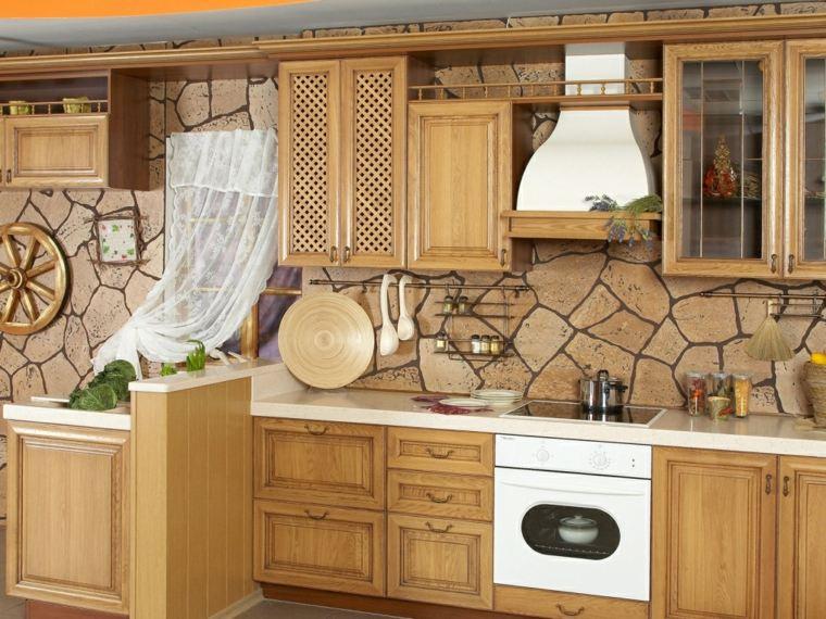 interiores de cocinas-salpicaderos-rusticos