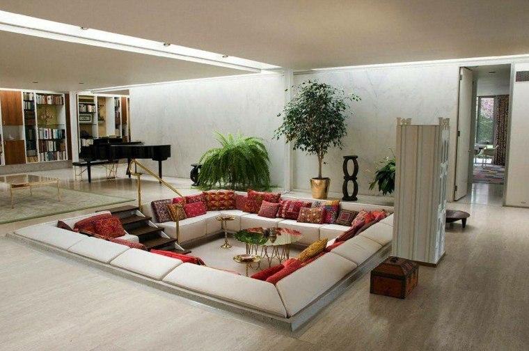 interiores de salas-hundidas-modernas