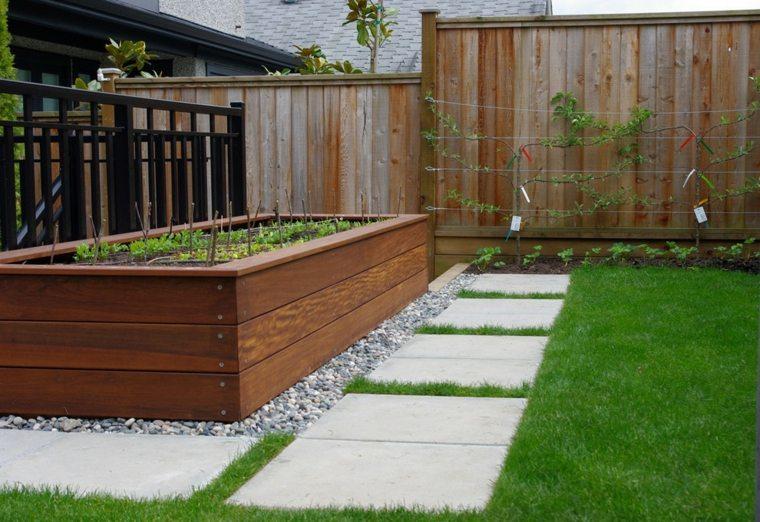 jardineras de madera Diy en el jardín