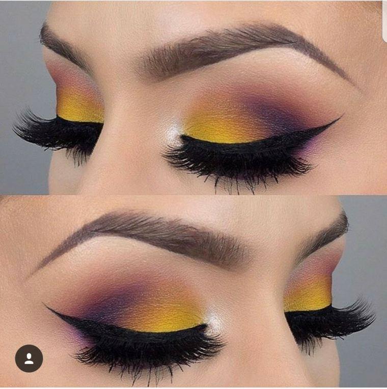 maquillaje de dia-morado-verano