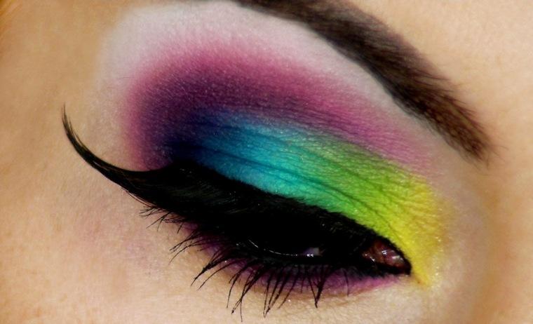 maquillaje de moda-arco-iris-verano