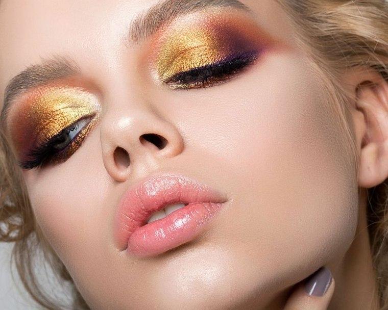 maquillaje de moda-dorado-verano