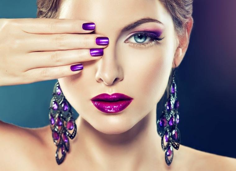 maquillaje de moda-morado-verano