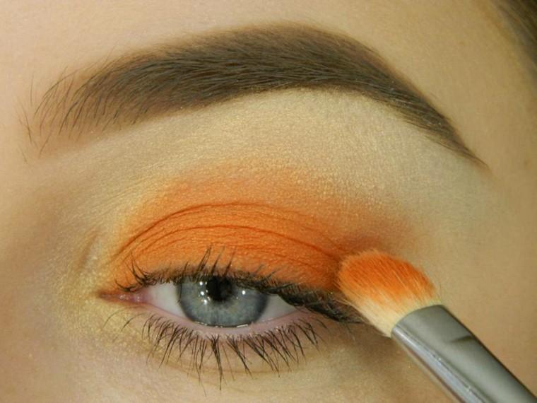 maquillaje de moda-naranja-verano
