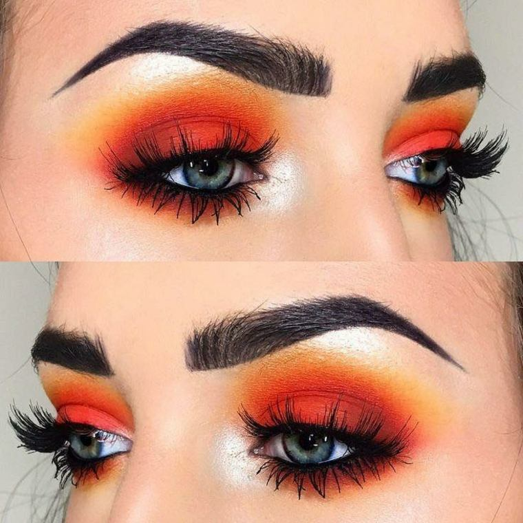 maquillaje de moda-rojo-verano