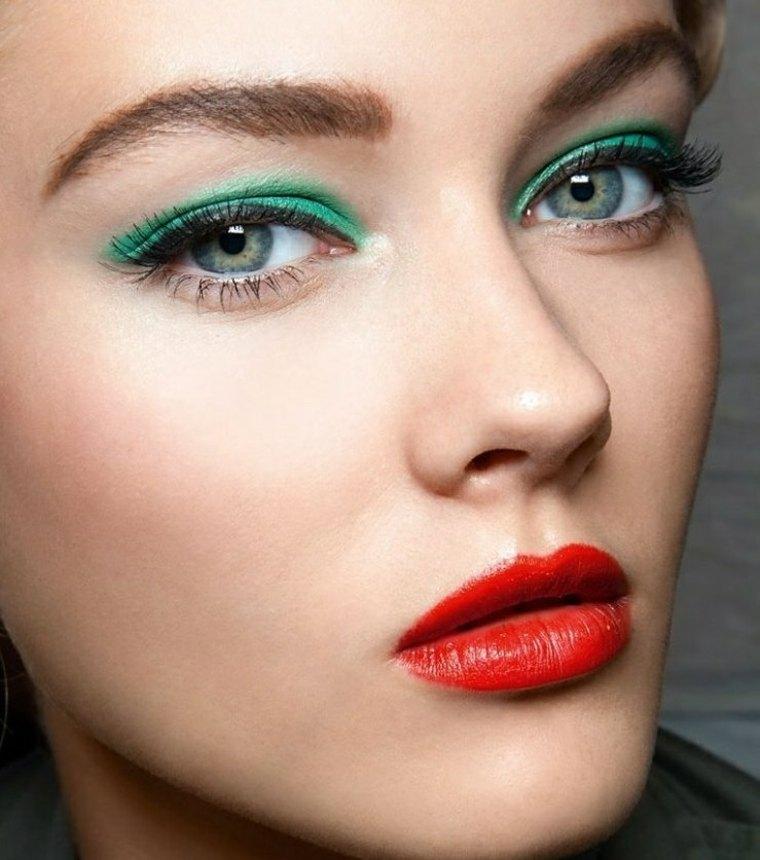maquillaje de moda-verde-verano