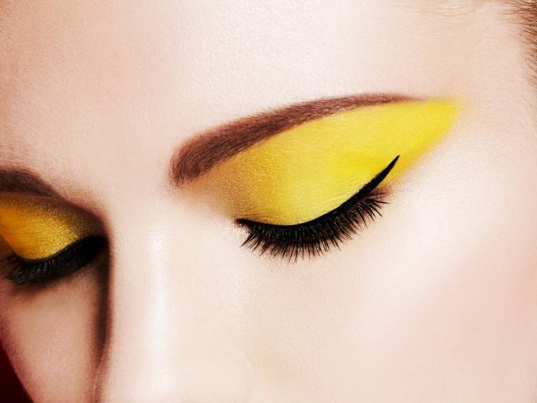 maquillaje natural-amarillo-verano