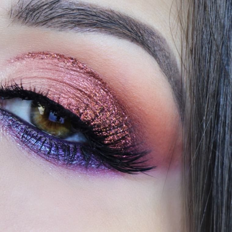 maquillaje sencillo-purpurina-verano