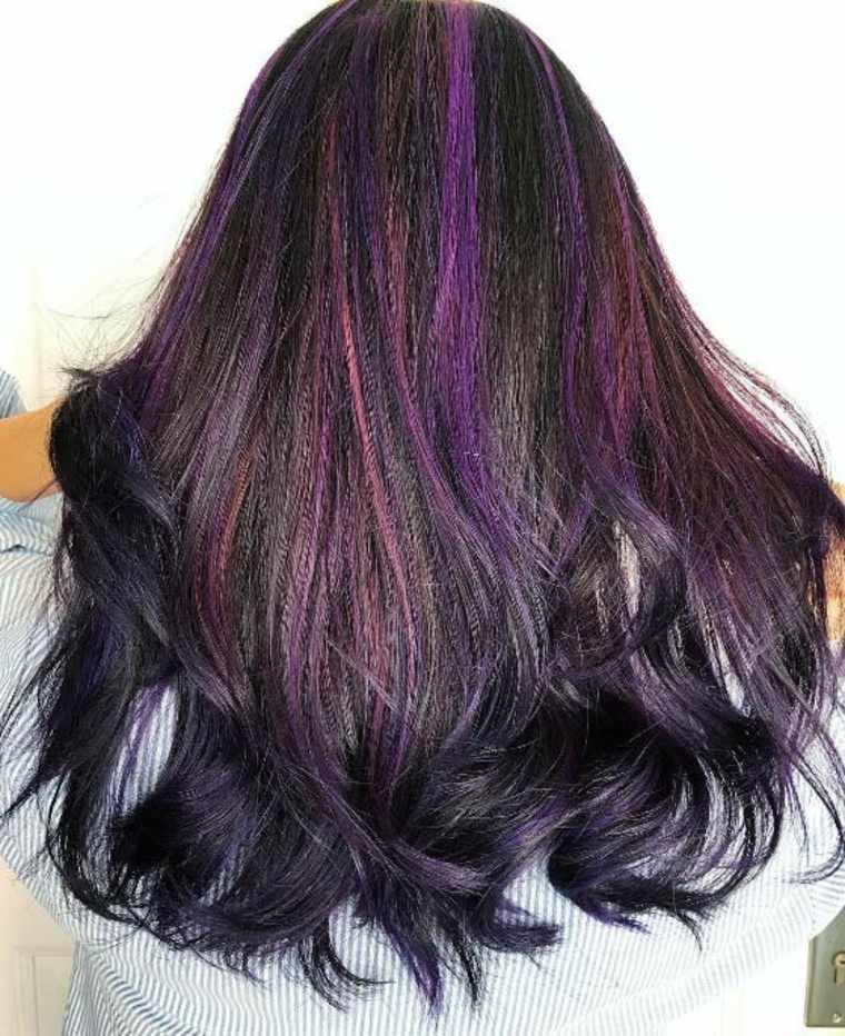 estilo Balayage violeta morado