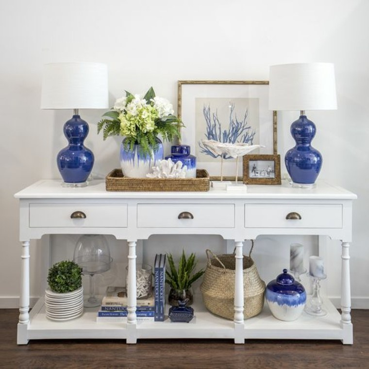 mesa-consola-blanca-de-madera