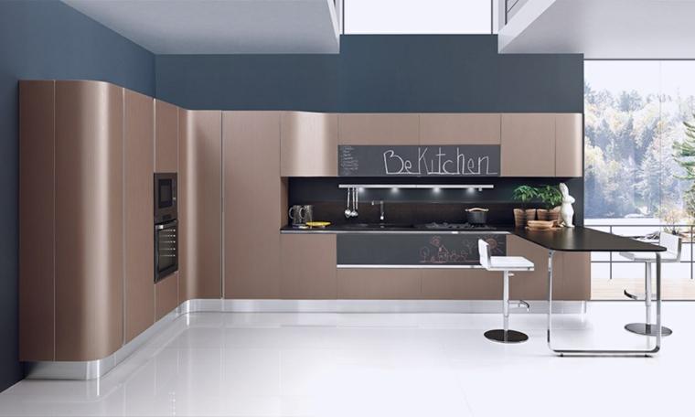 modelos de cocinas pequenas-salpicaderos-elegantes