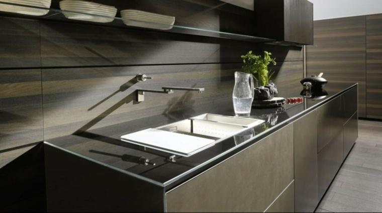 modelos de cocinas pequenas-salpicaderos-modernos