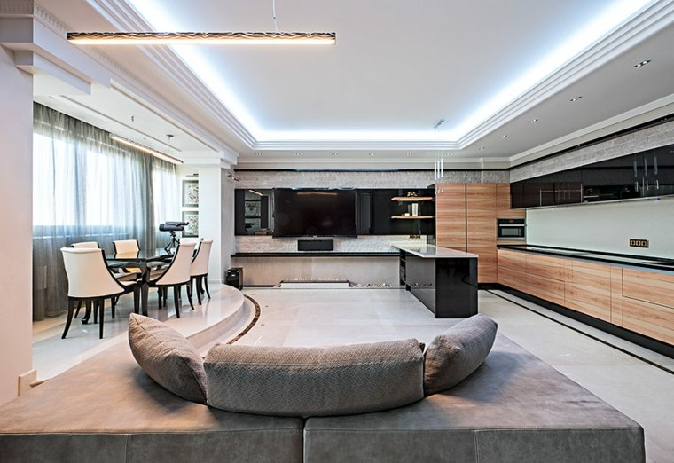 muebles para sala-hundida-moderna