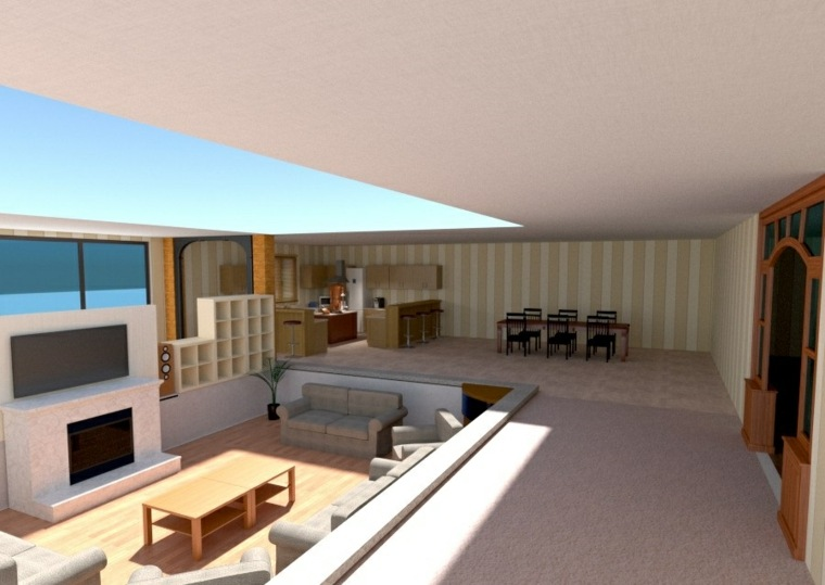 muebles para sala moderna-interior