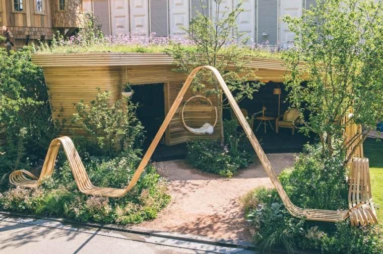 naturaleza mobiliario banco madera