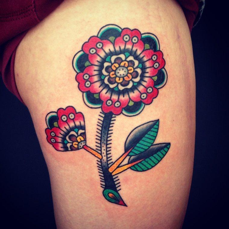 tatuaje de flores ideas
