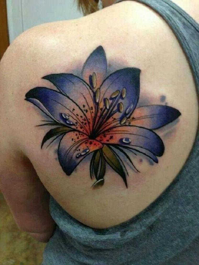 Tattoo de flor de lirio