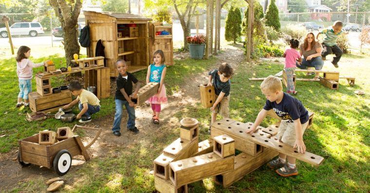 como instalar un parque infantil Diy